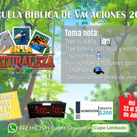 Escuela Bíblica de Vacaciones 2019