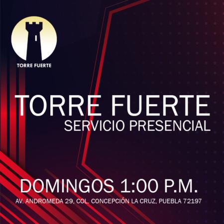 Servicio Presencial domingo 1:00 p.m.